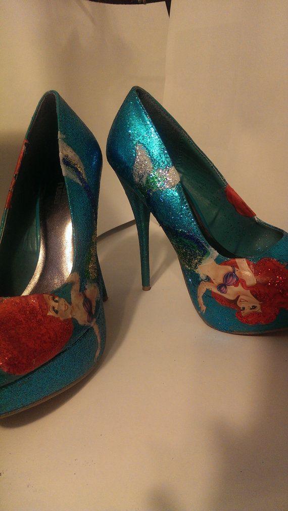 62a2cff282c2e little mermaid ariel high heel pumps blue by mickellesfashion ...