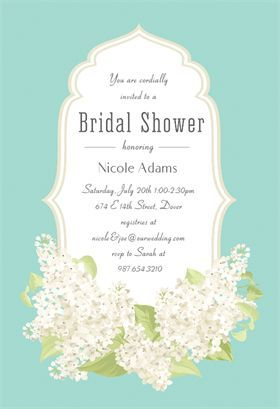 Romantic Frame  Free Printable Bridal Shower Invitation Template