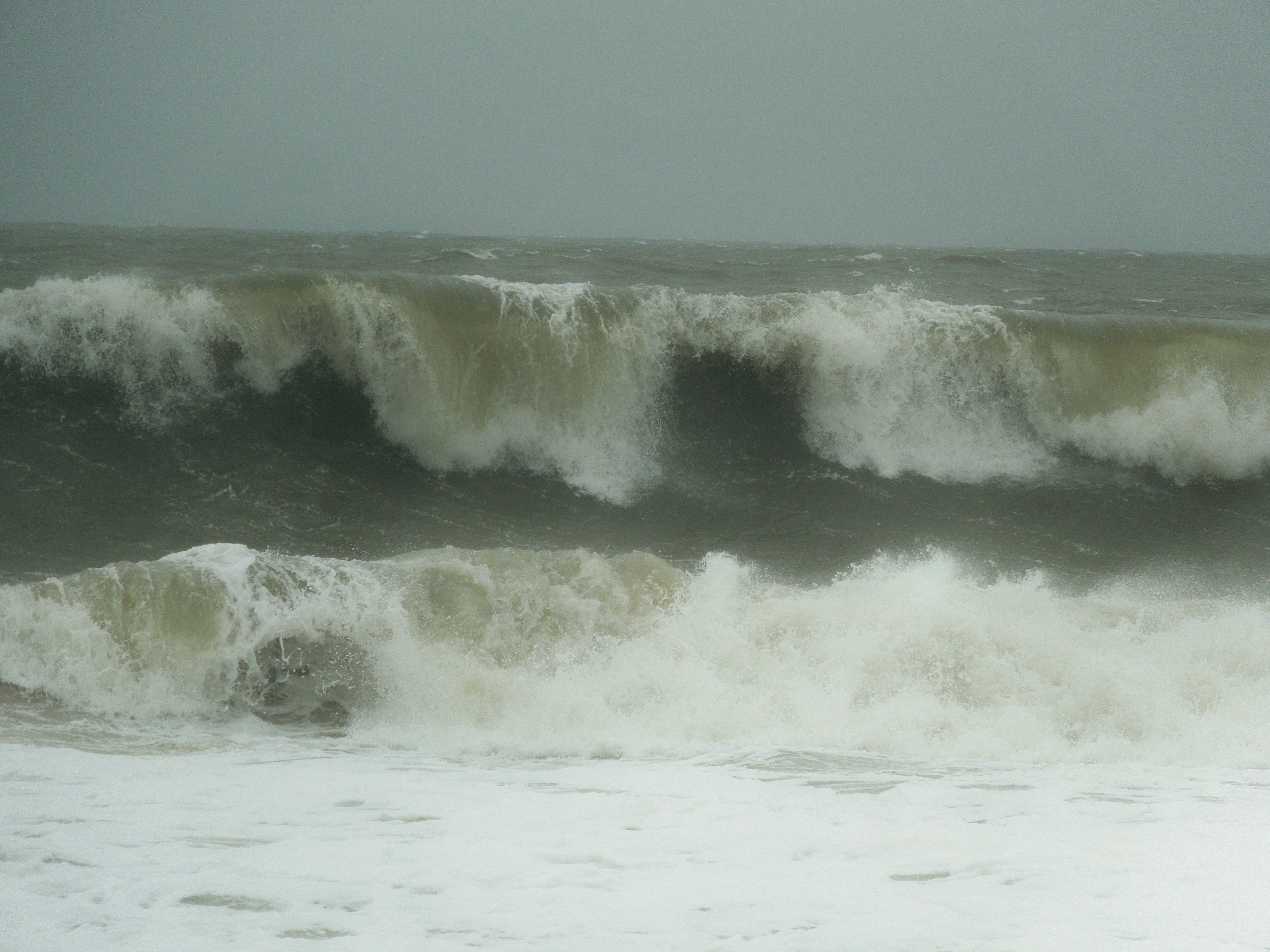 Waves In Rehoboth Beach Delaware Just Before Sandy Sunday 10 28 12