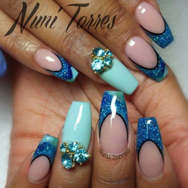 nunis_nails\'s photo on Instagram | nails | Pinterest | Diseños de ...