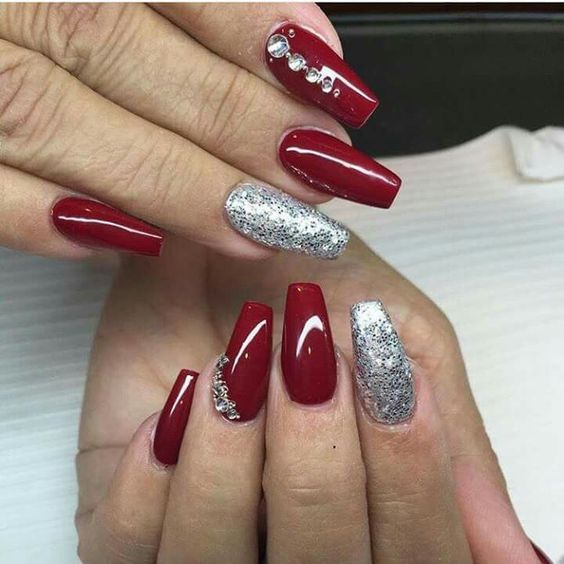 Stunning nail art design in red color ideas also all about weddings rh pinterest