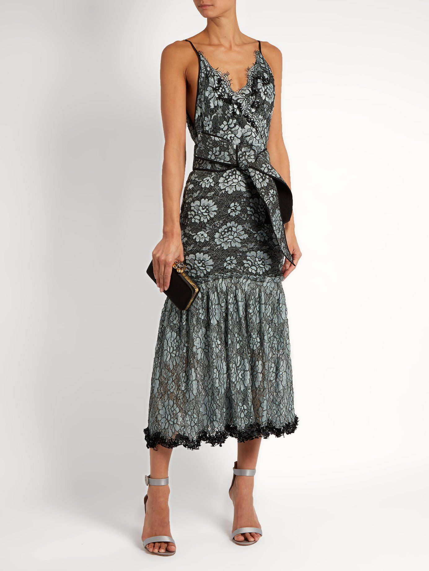 Bead-embellished lace cotton-blend faille dress Johanna Ortiz Free Shipping Amazon 2YRpdwlEs