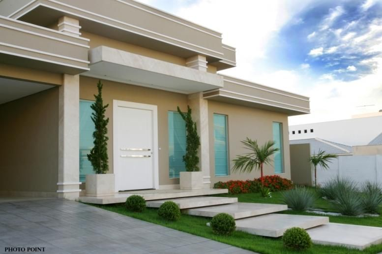Famosos fachada beis … | Frente perfecto | Pinterest | Fachadas, Casas y  QU91