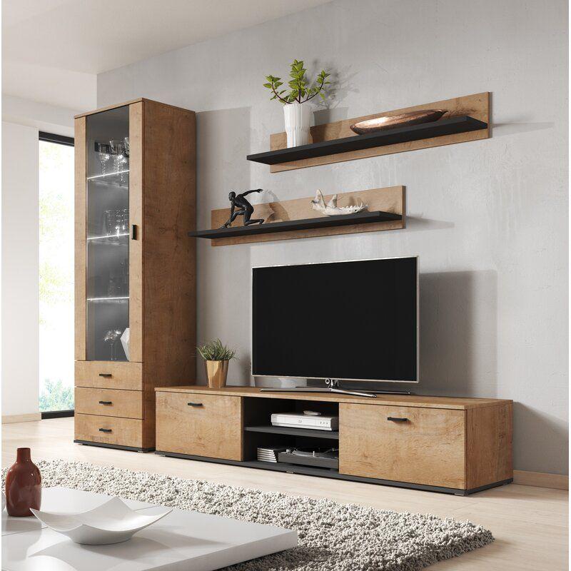 Sabala Entertainment Center For Tvs Up To 85 Living Room Wall Units Modern Wall Units Living Room Entertainment