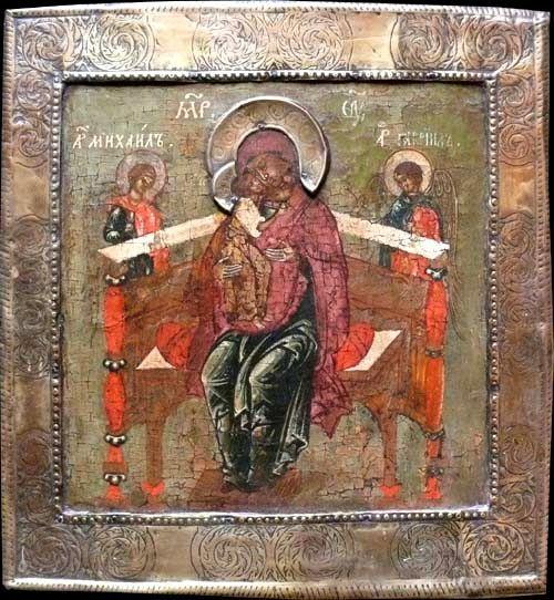 Тронная икона Пресвятой Богородицы, Россия, 1700 г., коллекция частная, Германия