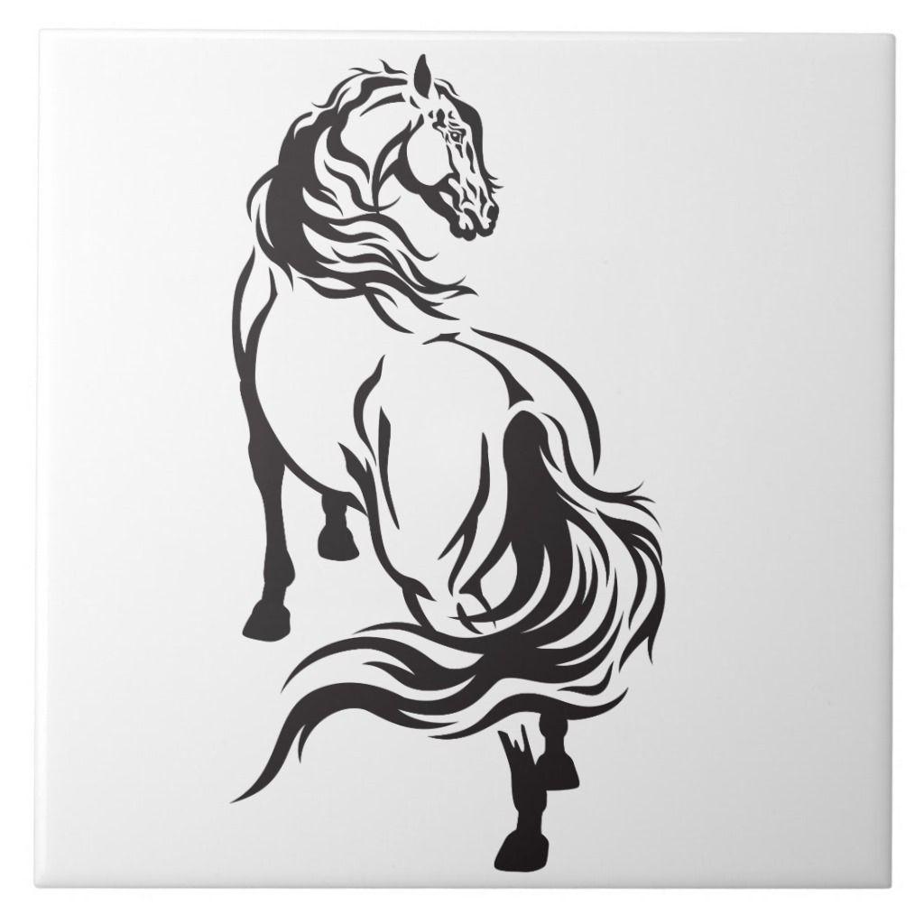 Horse Ceramic Tile Zazzle Com Horse Illustration Ceramic Tiles Horses [ 1024 x 1024 Pixel ]