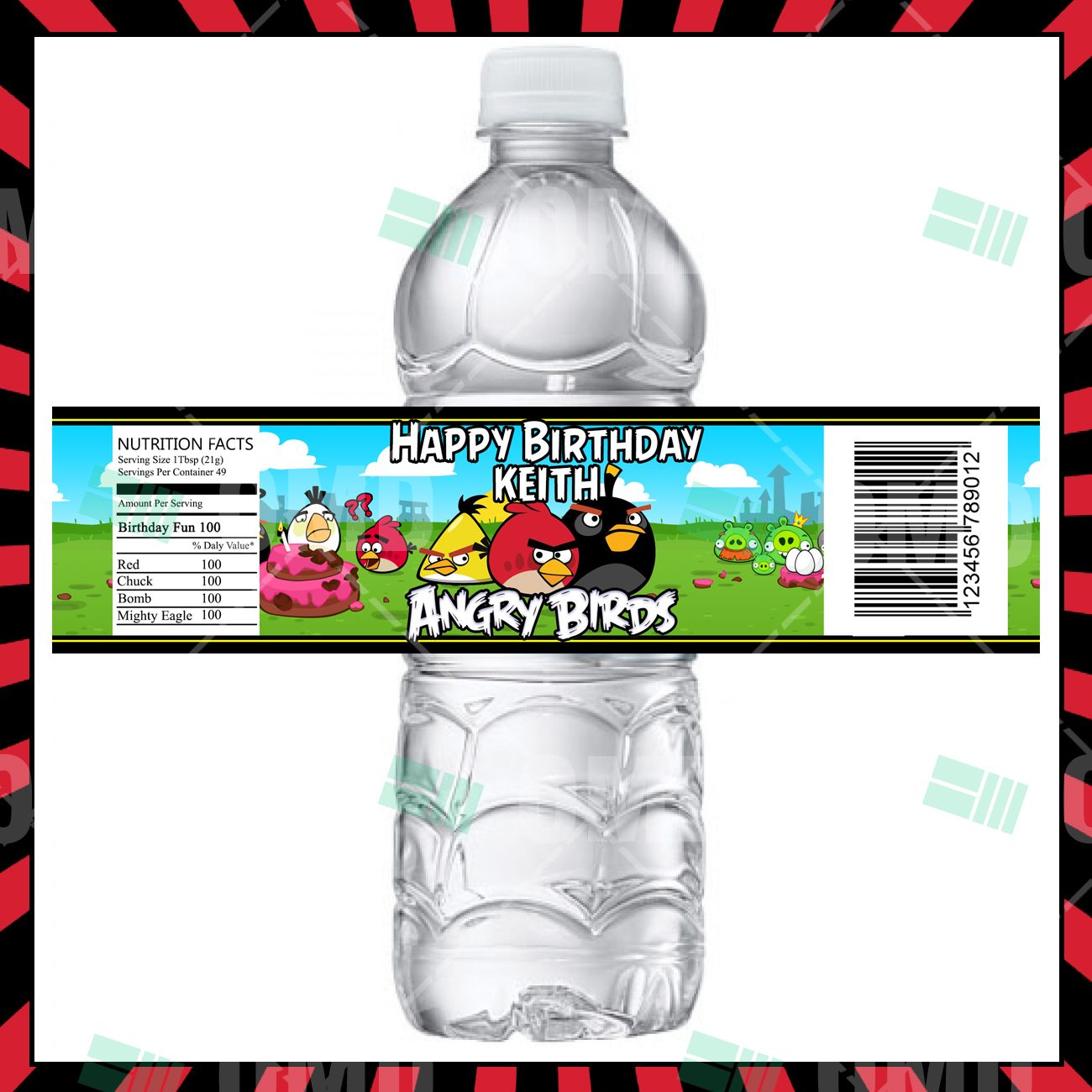 Angry Birds Party Bottle Labels In 2020