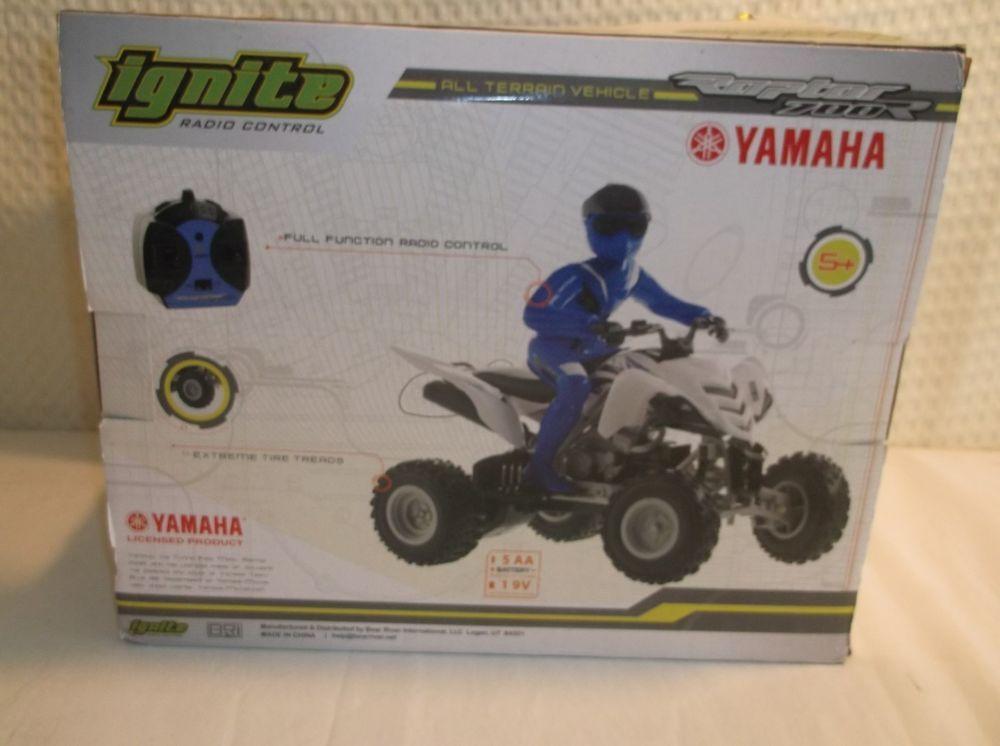 Ignite Radio Control Raptor 700 Blue Battery Operated Yamaha #Ignite