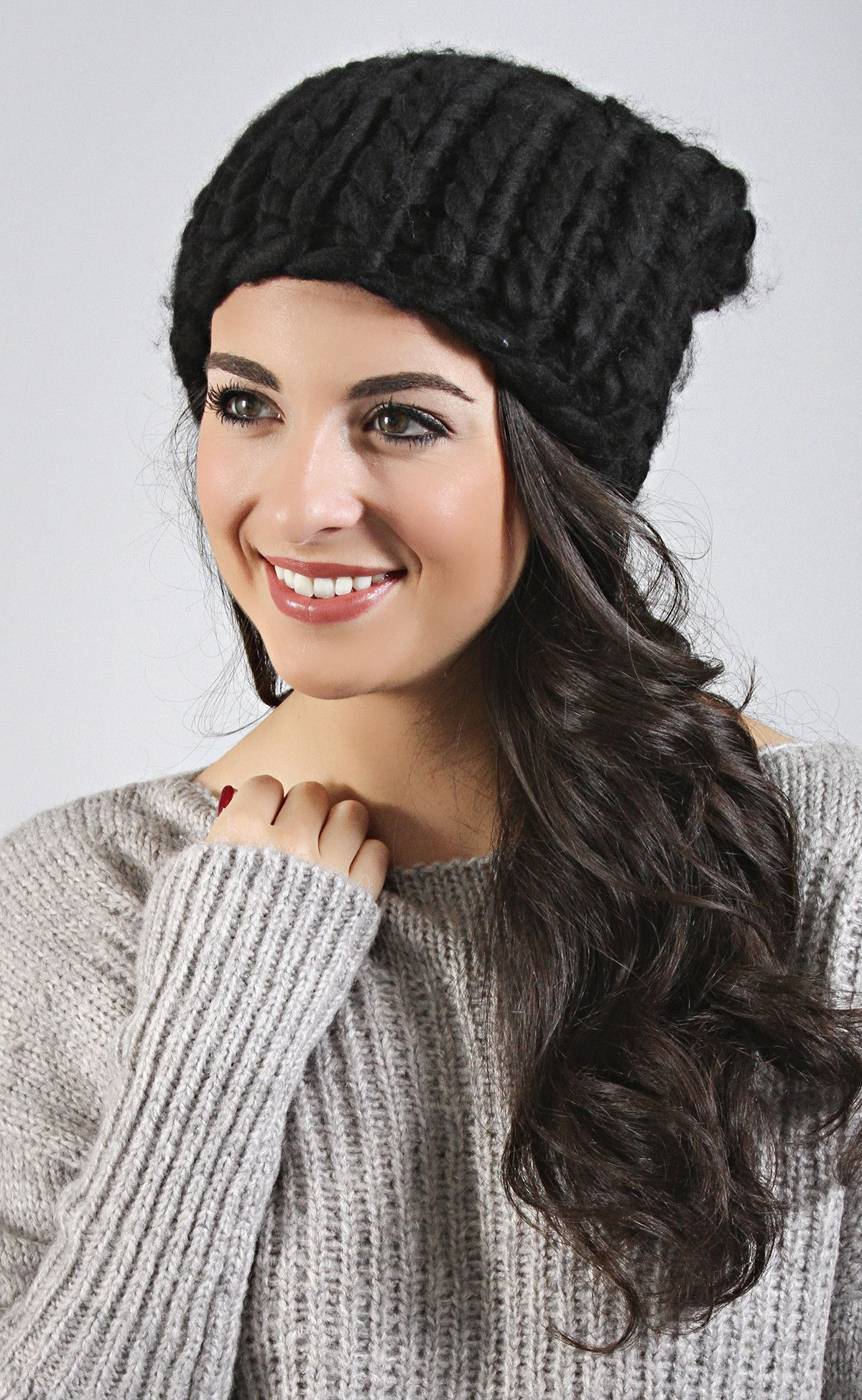 soft and chic knit beanie - black--Get 15% off + Free Shipping w/code 'RiffraffRepLauren' at checkout on ShopRiffraff.com!