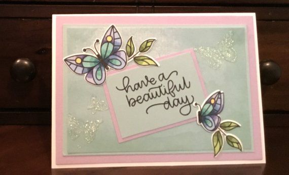 Beautiful Butterfly Birthday Card Free Shipping