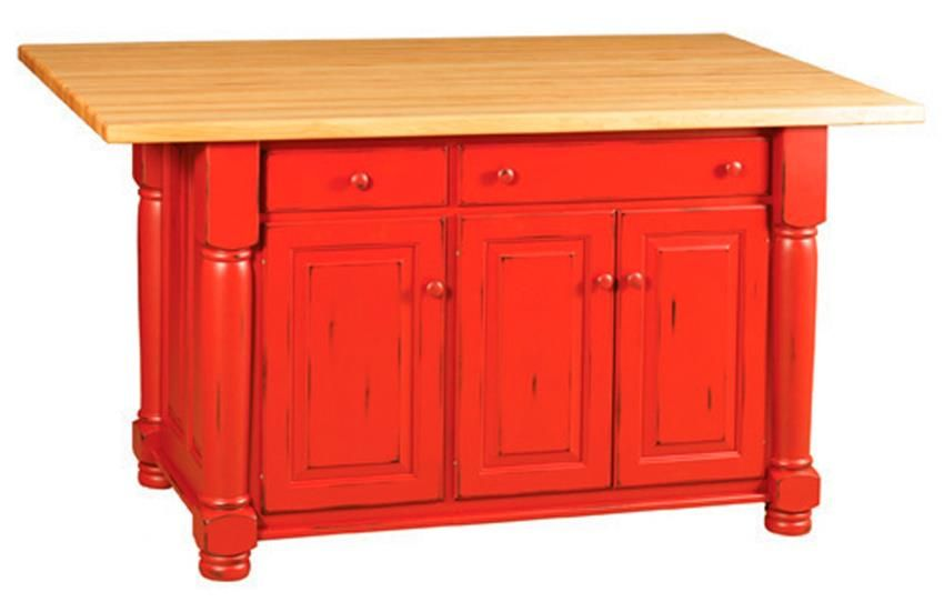 Best Amish Turned Leg Kitchen Island With Three Cabinets And 400 x 300