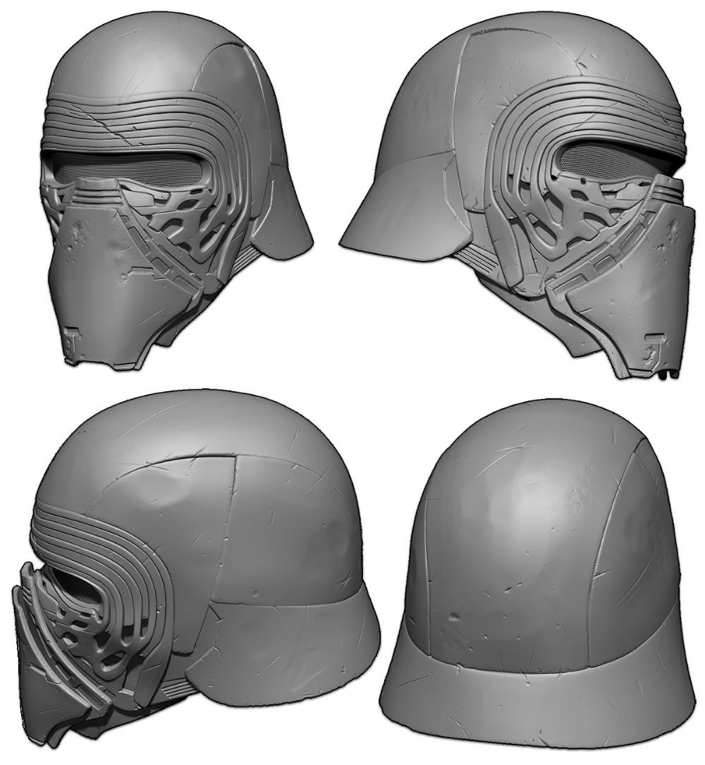 Star Wars Kylo Ren Helmet Projects Prints Formlabs Community Forum Kylo Ren Helmet Star Wars Kylo Ren Star Wars