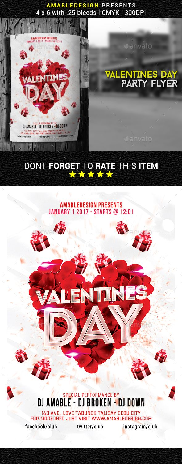 valentines day flyer poster event flyers flyer template and print