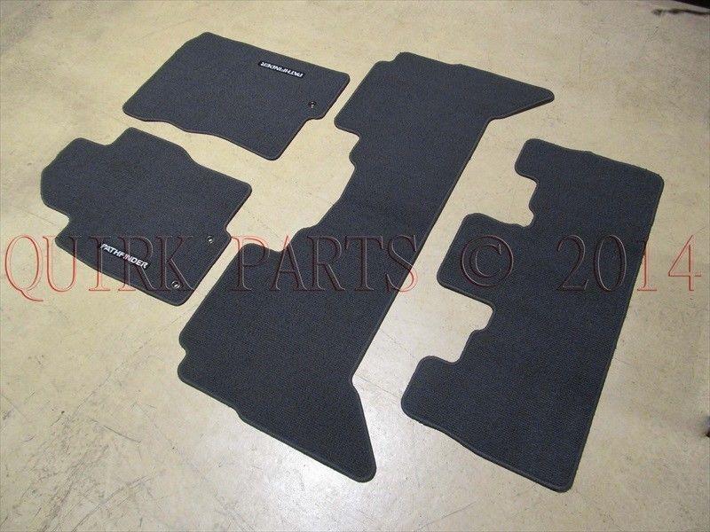 2009 2012 Nissan Pathfinder Charcoal 3 Row Carpet Floor Mats Oem New Genuine Nissan Pathfinder Nissan Carpet Flooring
