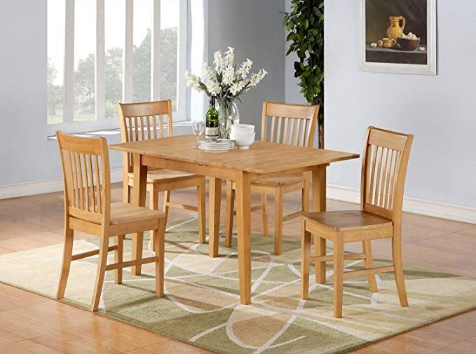 5PC Rectangular Kitchen Dinette Set Table | Table and Chair ...