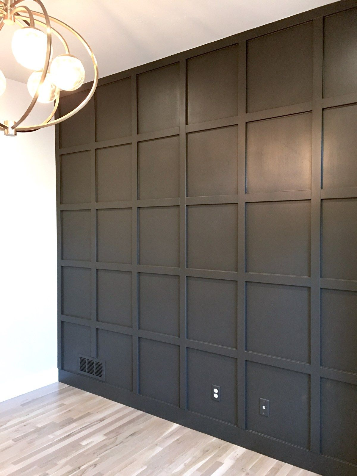 Tutorial For Creating A Perfect Grid Wall Wall Paneling Diy Wall Paneling Wall Trim