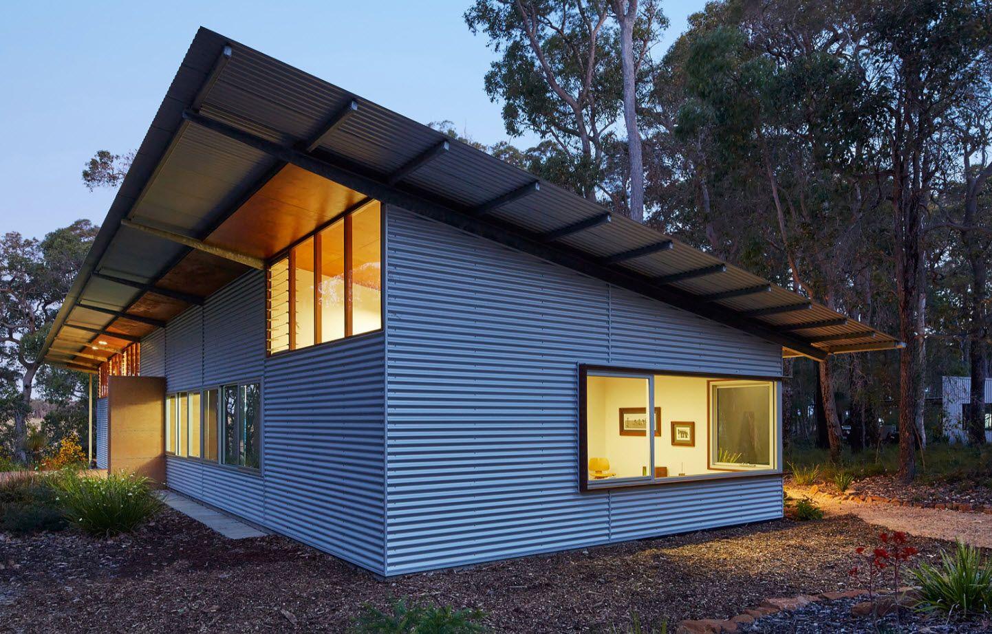 Diseño De Casa Rural Ecológica Preparada Para Abastecerse Con Los Elementos De La Naturaleza Construye Hogar Casas De Metal Diseños De Casas Casa De Lamina