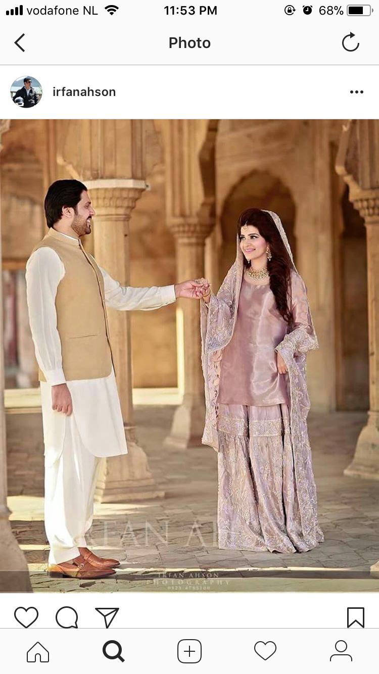 Pretty Color For A Nikkah Bride Pakistani Bride Pakistani Wedding Dresses Walima Dress