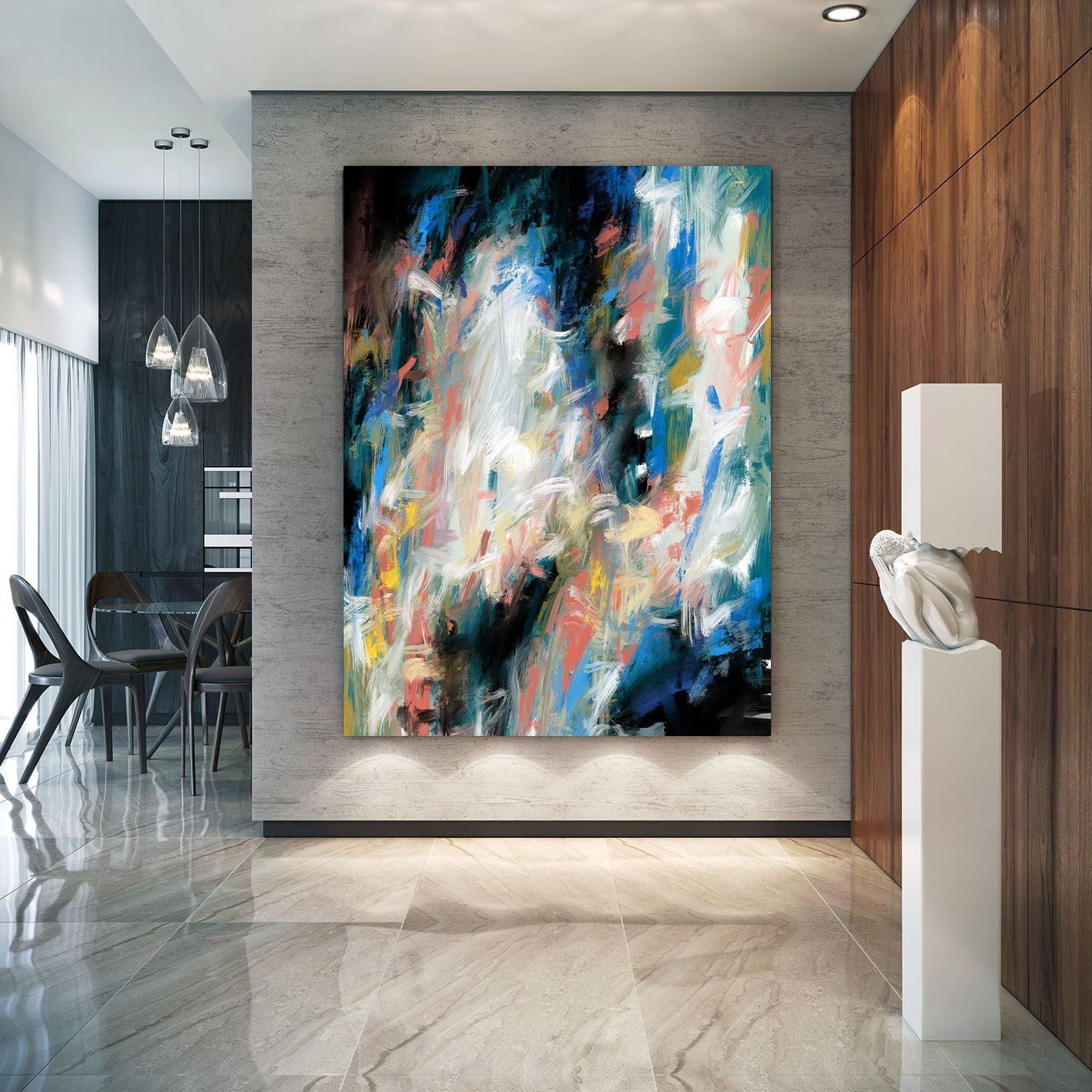 Extra Large Wall Art Textured Painting Original  Etsy  Modern