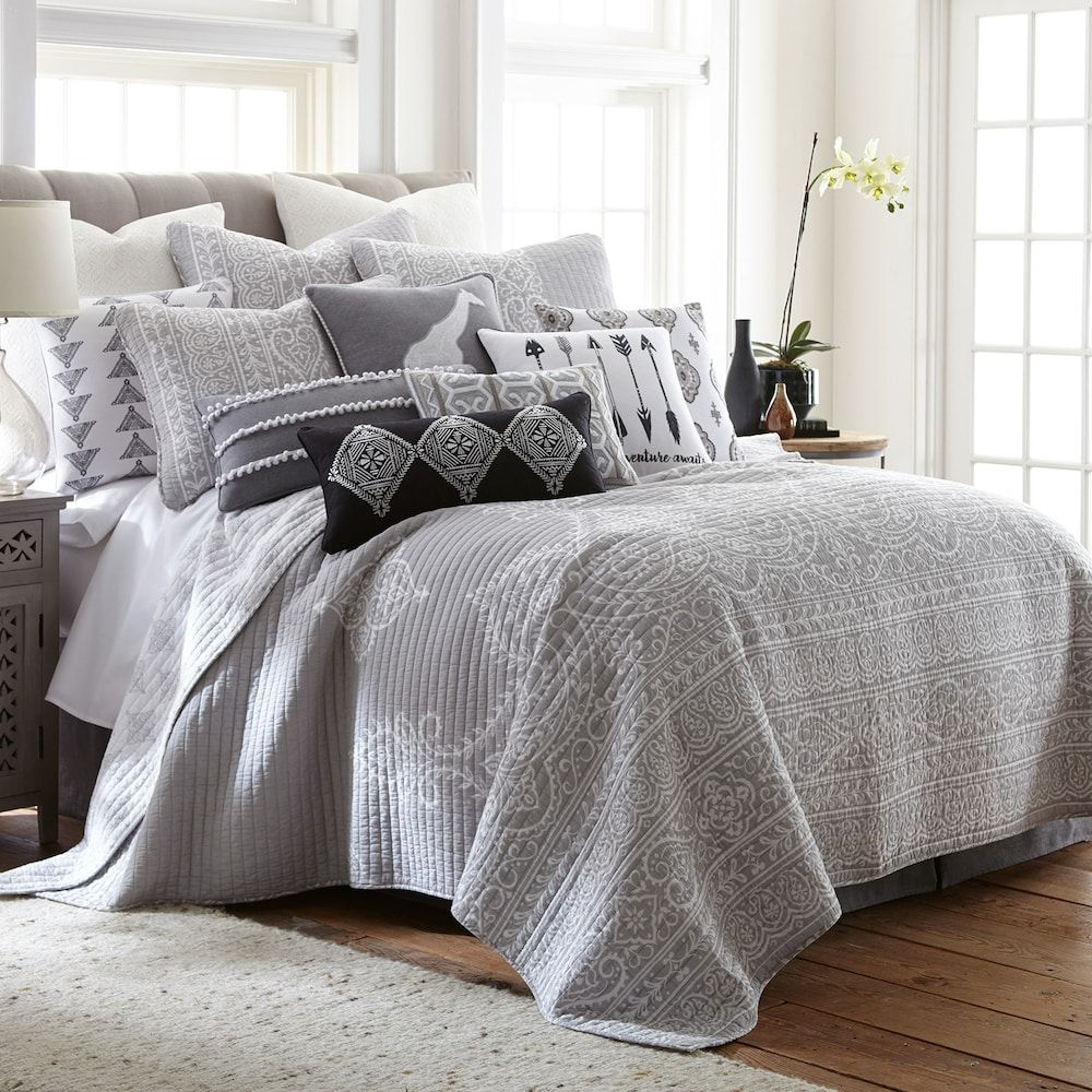 Levtex Carlisle Quilt Set, Grey, Twin | Products in 2019 ...