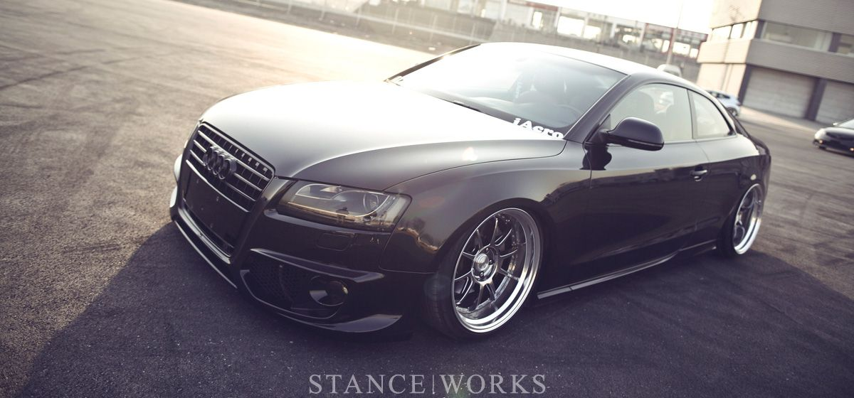 An Audi A5 That Lies Close To The Ground Audi A5 Audi Audi A5 Coupe
