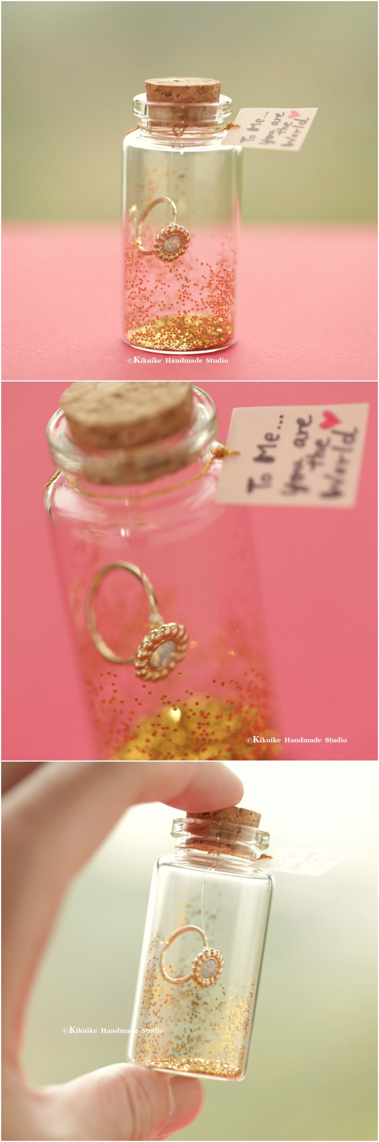 To Me You Are The World Tiny Message In A Bottle Miniatures