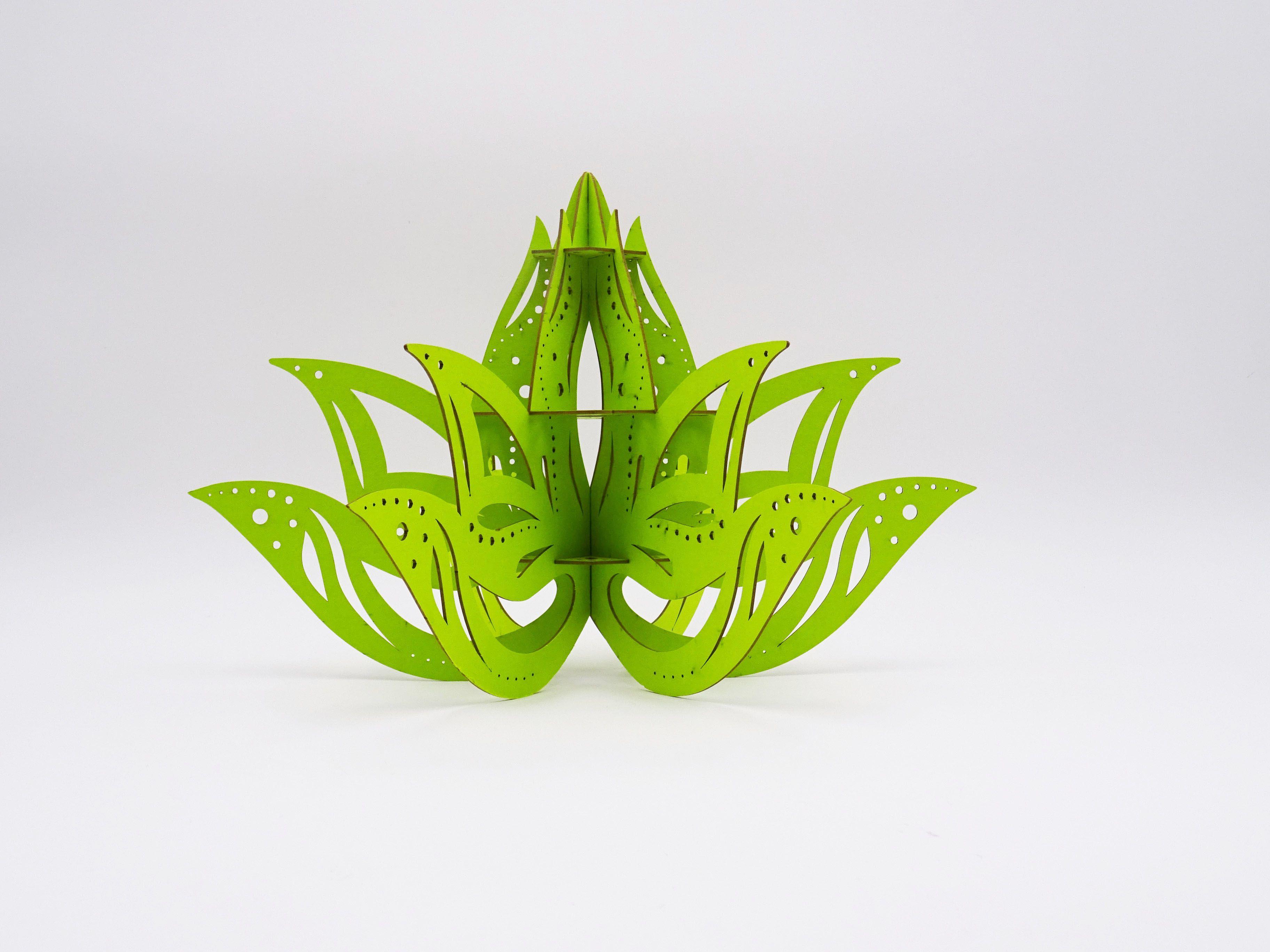 Porte bijoux lotus découpe laser. Fabriqué en carton et à ...