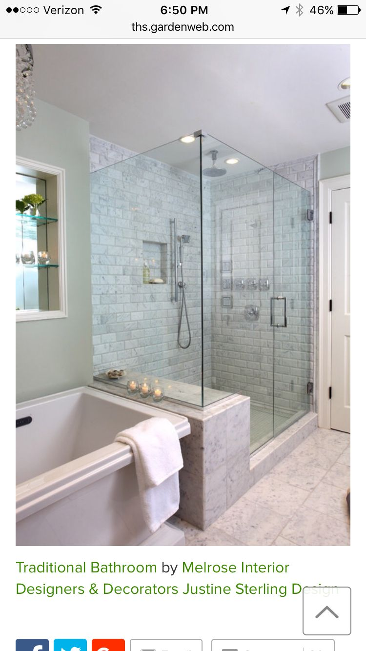 Shower wall and seat