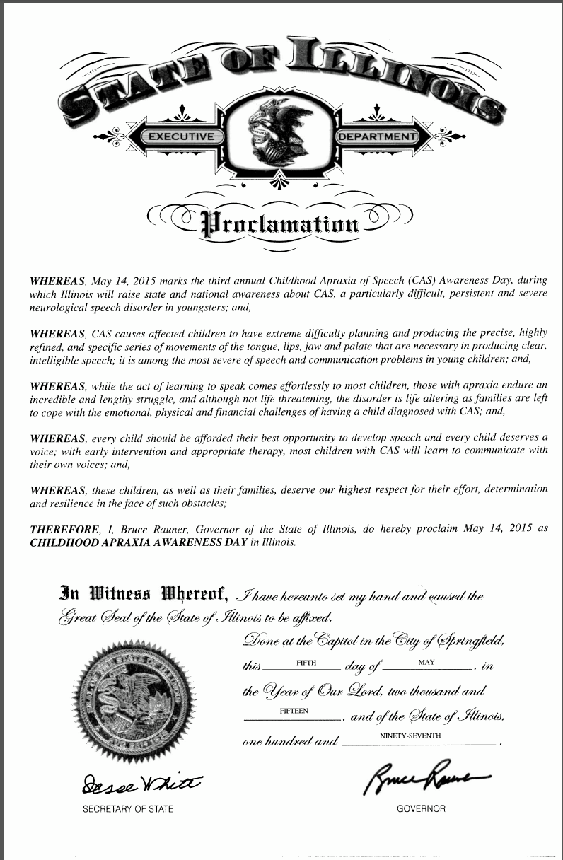 Can You Get Disability For Fibromyalgia In Illinois Illinois Proclamation 5 14 15 Narcolepsy Chiari Awareness