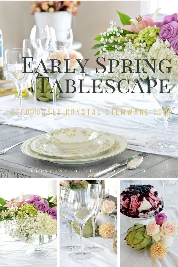 spring tablescape | early spring, spring and crystals