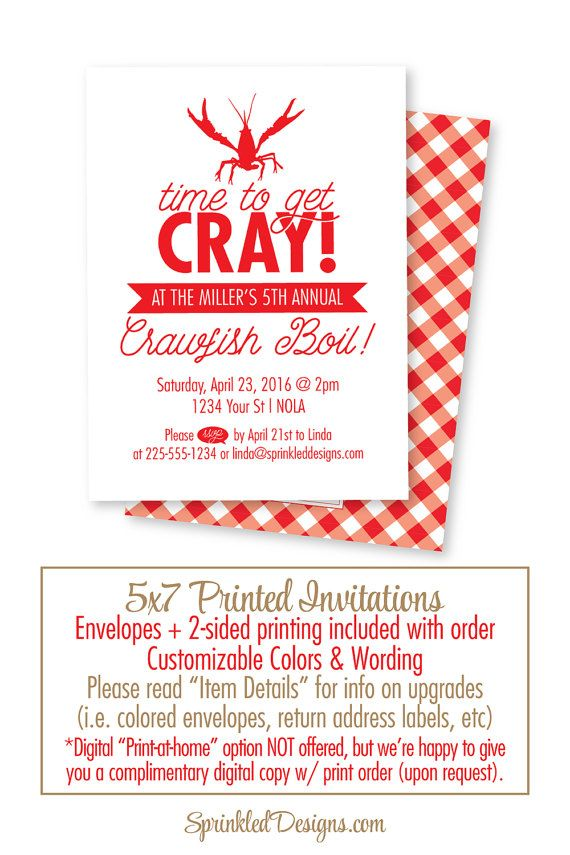 graphic relating to Crawfish Boil Invitations Free Printable identify Crawfish Boil Invitation - Year towards consider Cray Cray - Fresh new