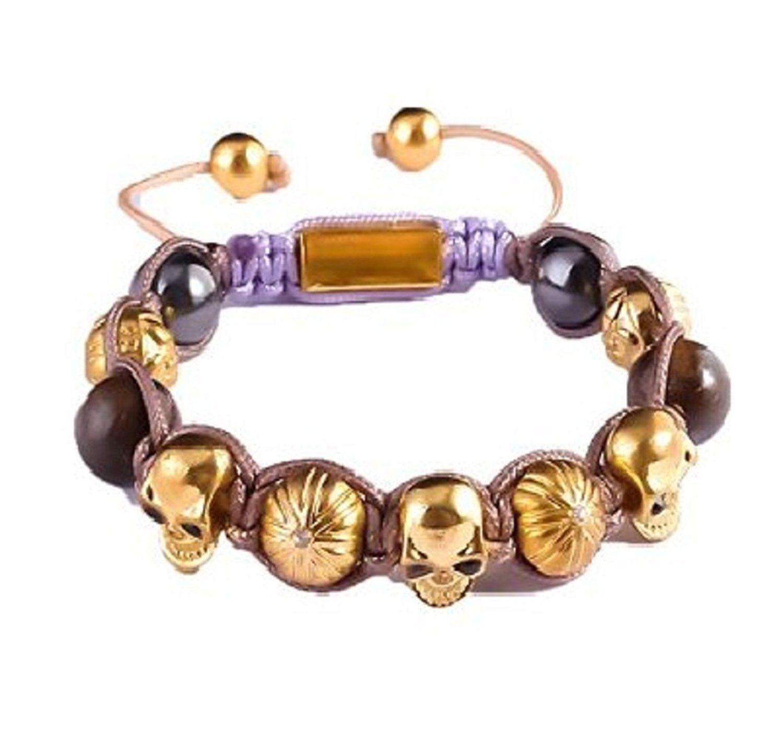 Ysiop Men Titanium Steel Bracelet Braid Wrap Charm Bangle Find out more details by clicking