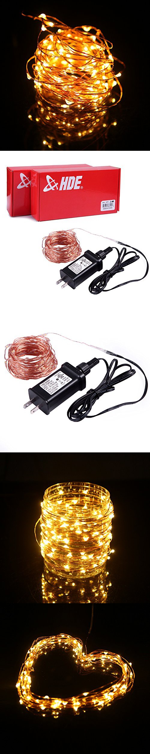 HDE Waterproof LED String Lights [Flexible Copper Wire] Indoor ...