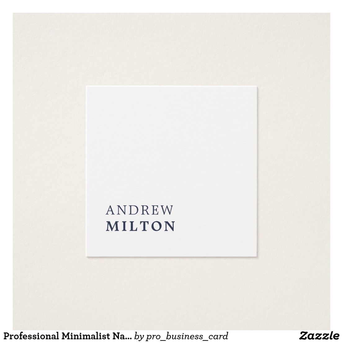 Professional Minimalist Navy Blue White Consultant Square Business