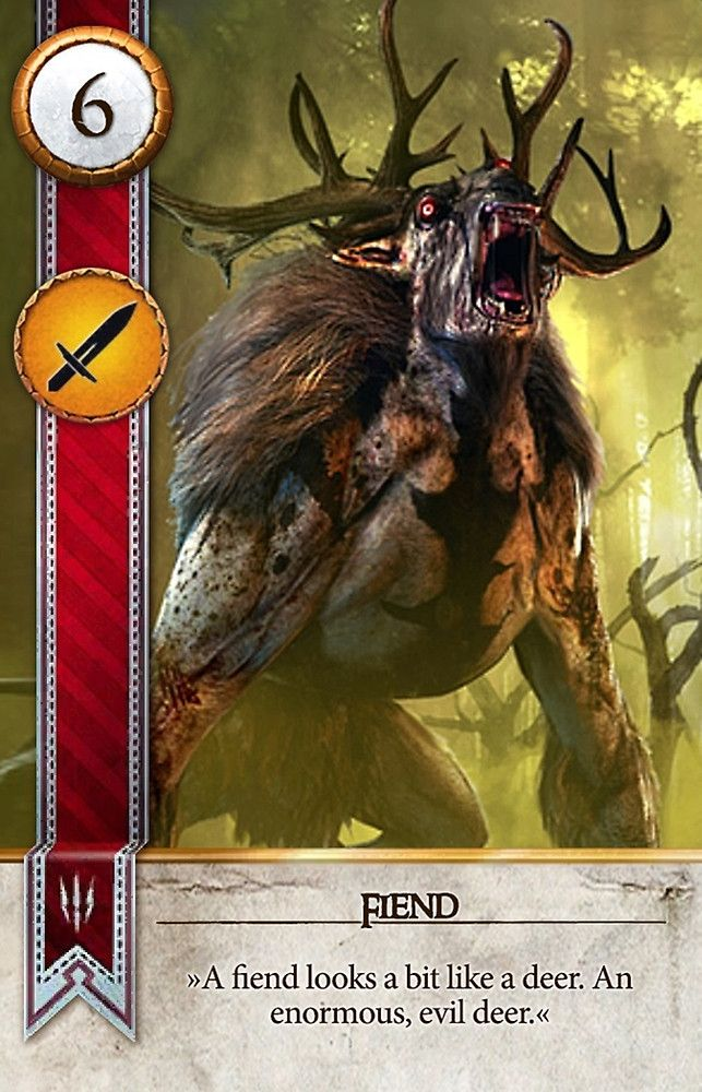 Fiend gwent card the witcher 3 wild hunt the - Ciri gwent card witcher 3 ...