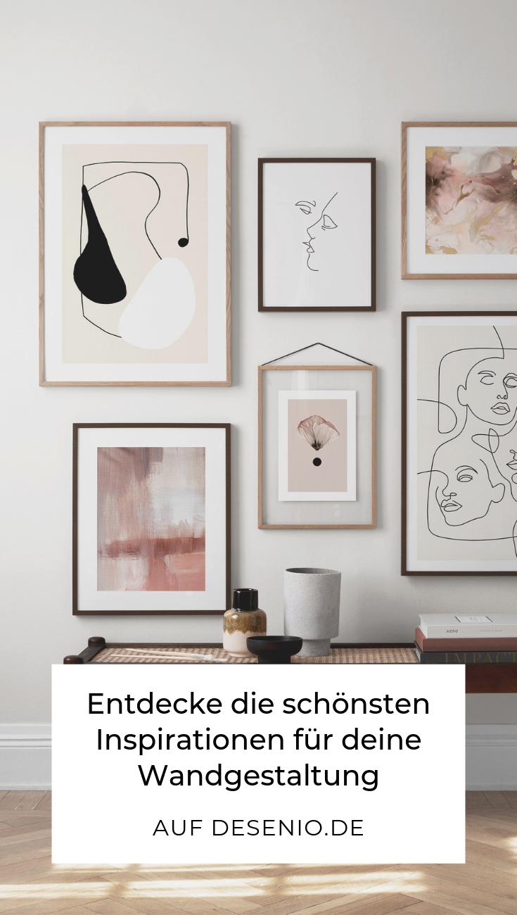 Inspirationen für deine Wandgestaltung auf desenio.de: die schönsten Poster, Prints, Bilderrahmen und Bilderwände! (Werbung) #desenio #wandgestaltung #poster #inspirationen #deseniobilderwand