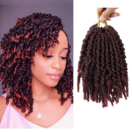 Amazon Com 6 Packs Pre Twisted Spring Twist Hair 8 Inch Pre Twisted Passion Twists Crochet Braids In 2020 Spring Twist Hair Twist Hairstyles Crochet Twist Hairstyles