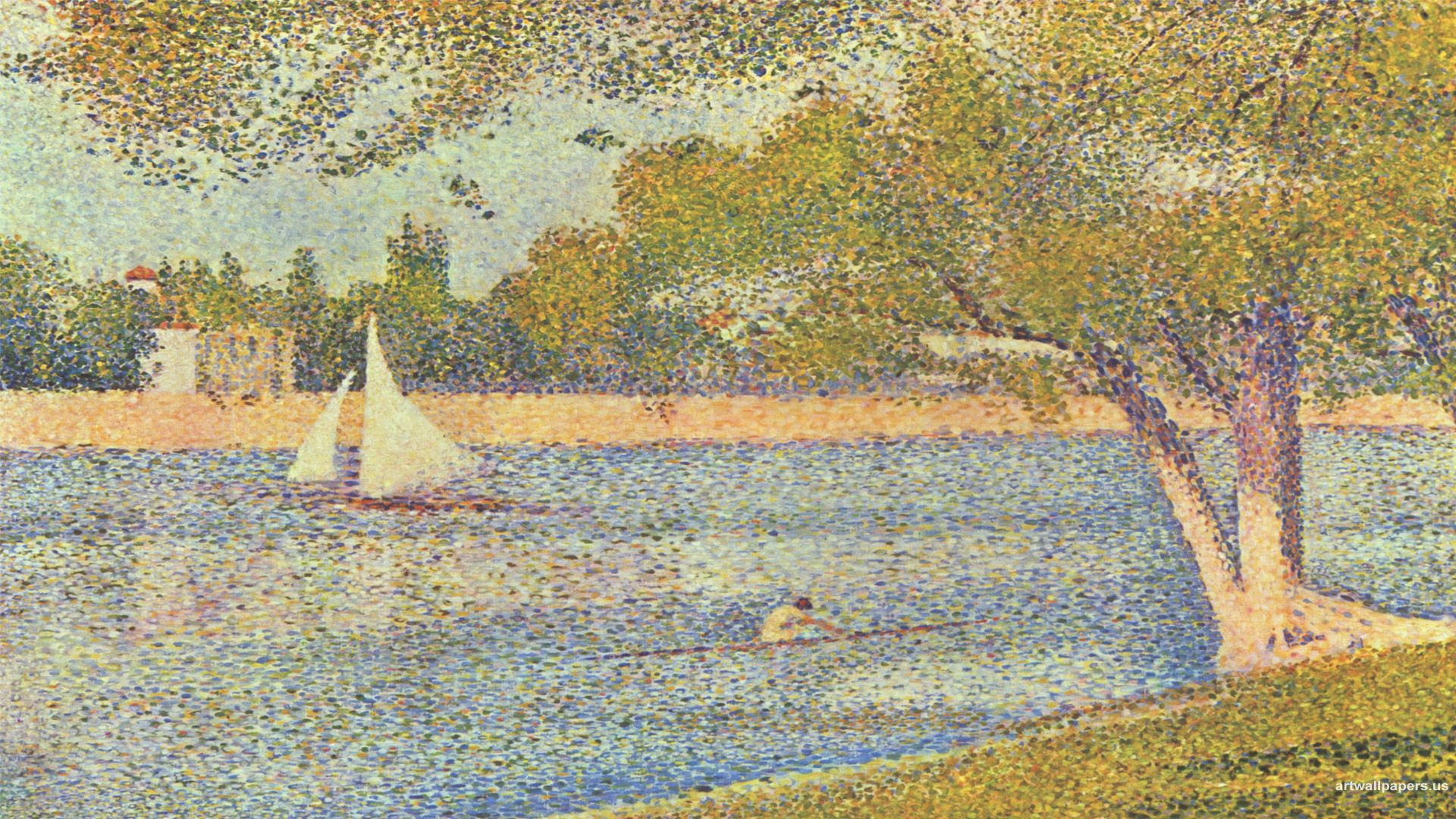 Love This Georges Seurat Wallpapers Background Painting