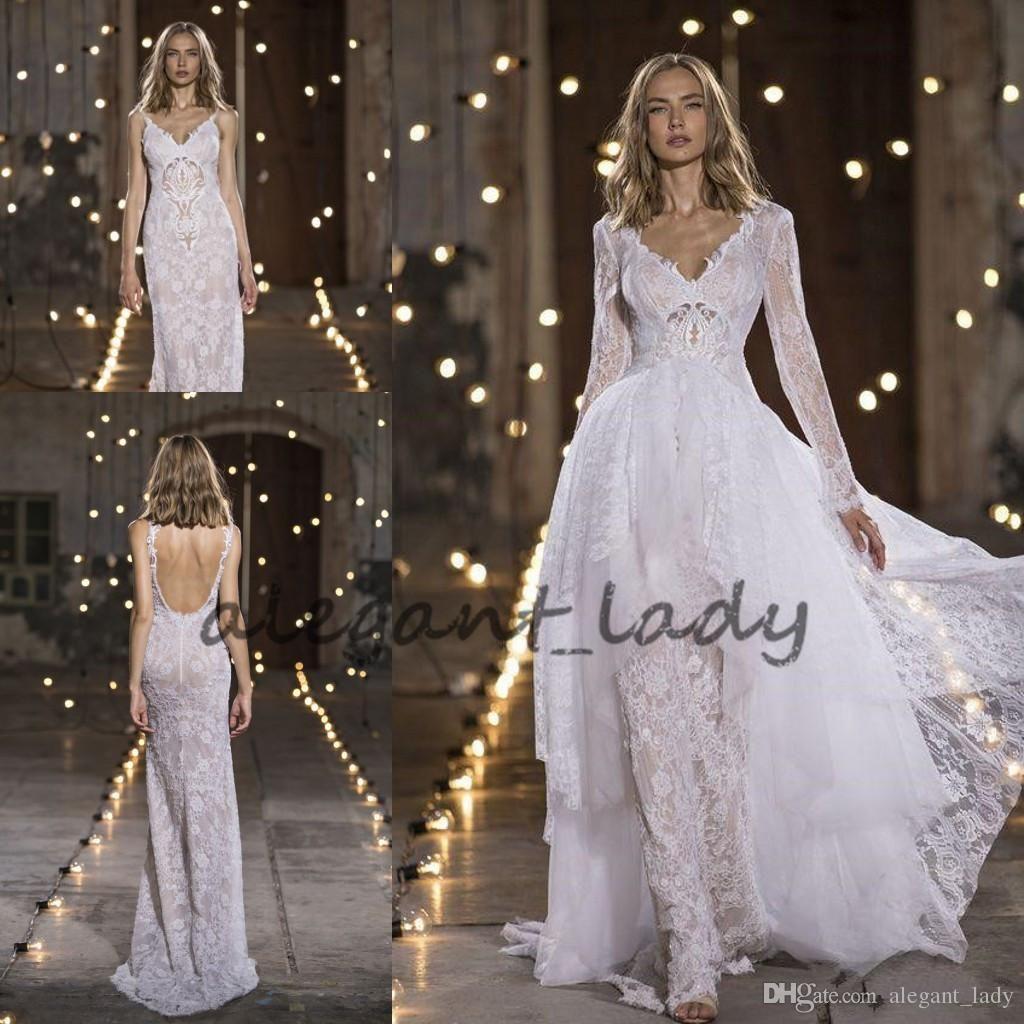 Nurit Hen 2018 Modest Mermaid Wedding Dresses with Long Sleeve ...