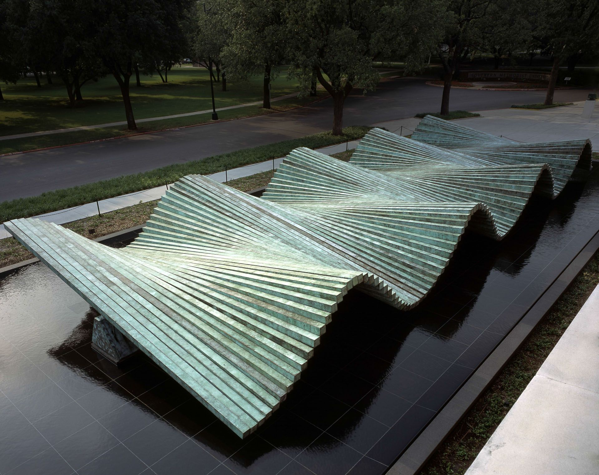 SMU Meadows Museum Wave Sculpture Dallas Gallery Santiago