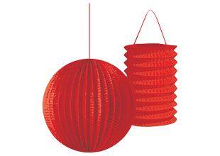 Red Paper Lanterns Sweet 16 Party Decorations Lanterns Lanterns Decor