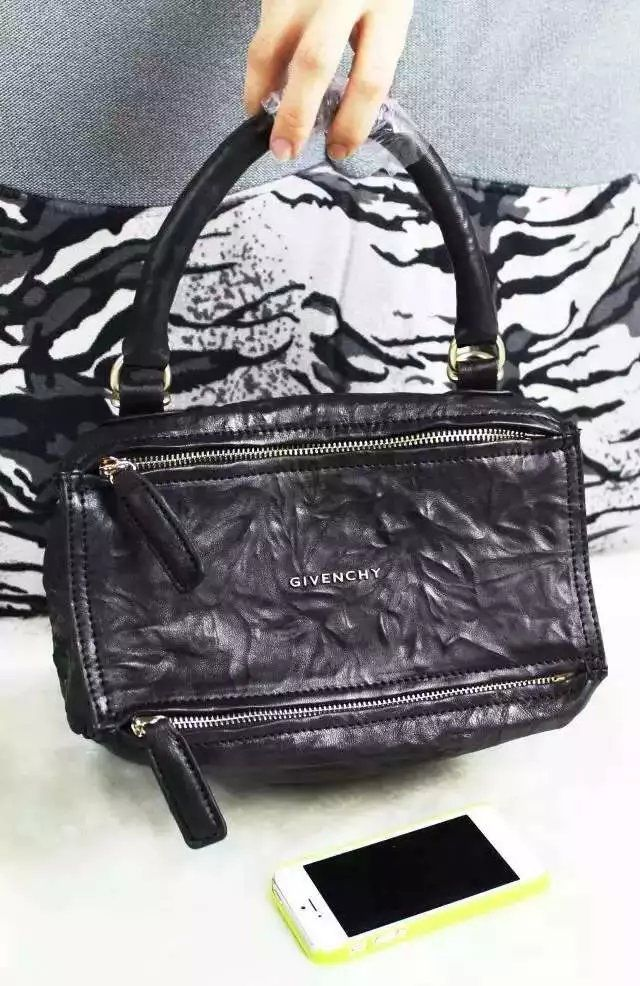 f849b0fd97cc S S 2016 Givenchy Collection Outlet-Givenchy  PANDORA  Small Black Pepe  Sheepskin Leather Bag Sale Online
