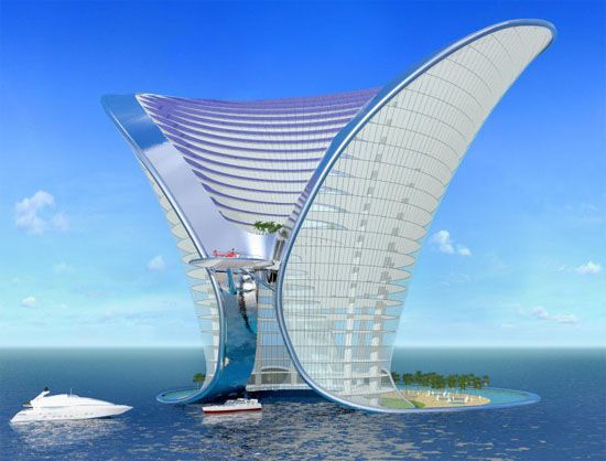 Apeiron Island Hotel is a hotel concept of 7 star in Dubai (With ...