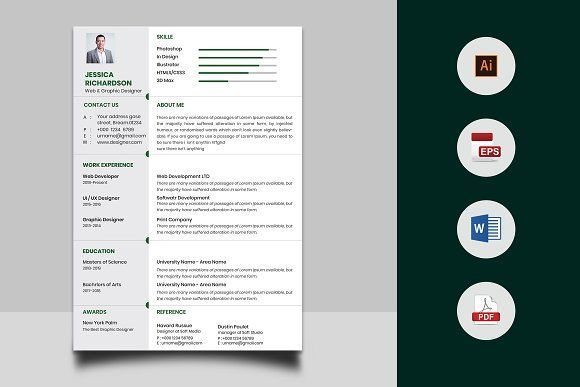 Resume Templates & Design : CV And Cover Letter CreativeWork247 ...