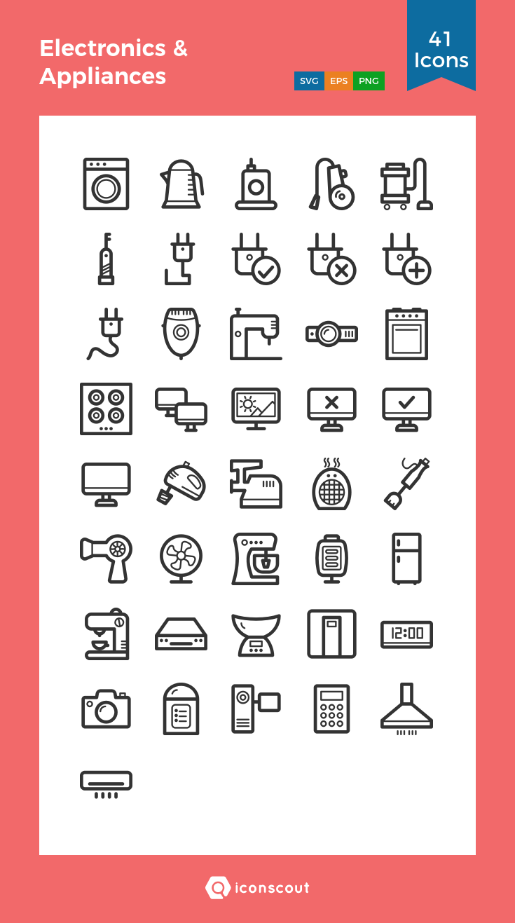 Download Electronics Appliances Icon Pack Available In Svg Png Eps Ai Icon Fonts Electronics Icon Electronic Appliances Icon