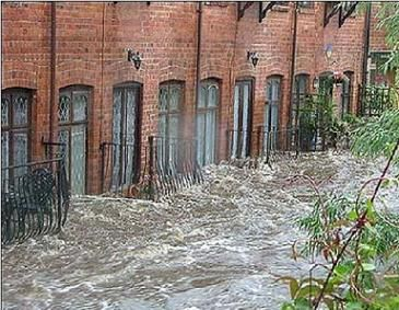 Flooded homes rotherham
