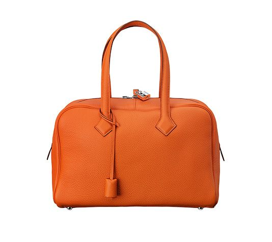Hermes tote bag (size 35) Fire orange taurillon clemence leather 14 ... 6b48755ca2