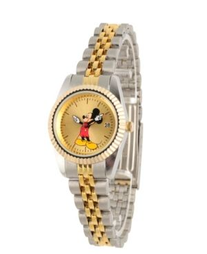 2b7e964bb83c Disney Mickey Mouse Men s Two Tone Silver and Gold Alloy Watch - Multi