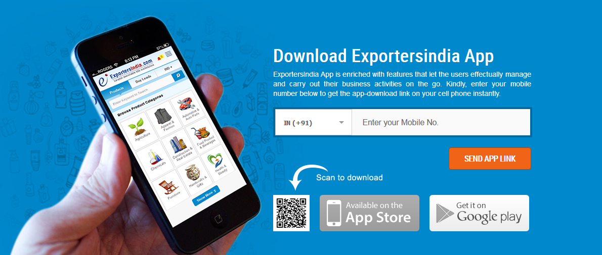 Download ExportersIndia Android & IOS Apps Search Buyers
