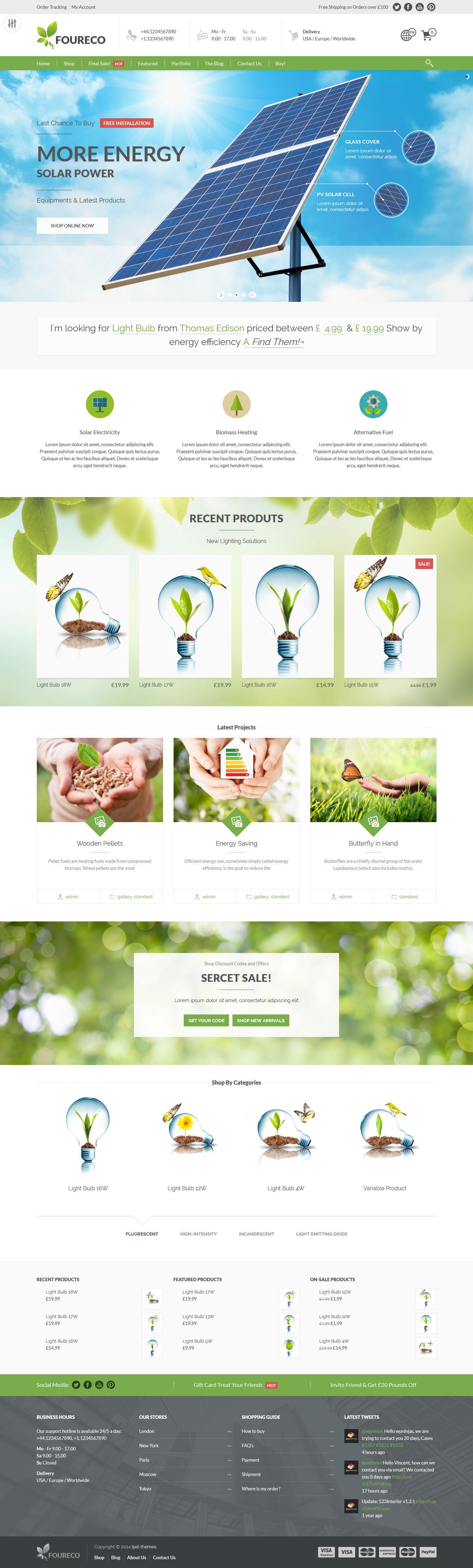 Ecology e merce WordPress Theme woo merce wordp…